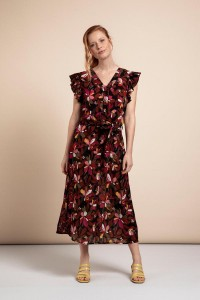 _Studio_Anneloes_Saar_crepe_flower_dress_black_red